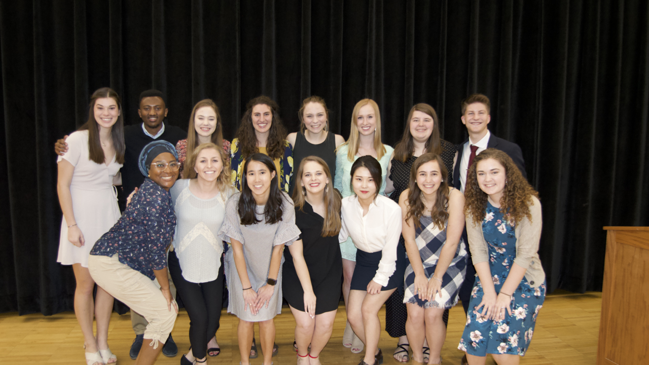 Big Red Integrity members at the Spring 2019 Big Red Integrity Awards Ceremony